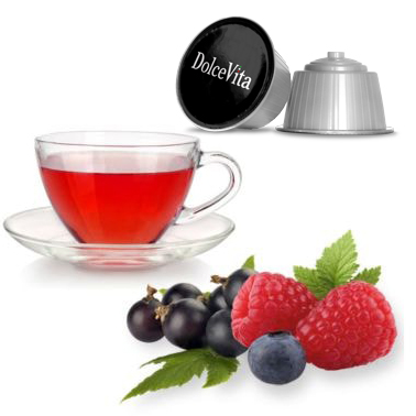 Tisane aux fruits rouges – Dolce Vita, compatible Dolce Gusto®